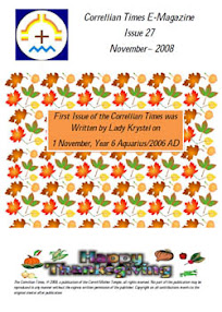 Cover of Correllian Times Emagazine's Book Issue 27 November 2008 Happy Thanksgiving