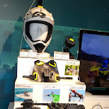 cool Sony extreme camera gear for underwater and wintersports in Ginza, Tokyo, Japan