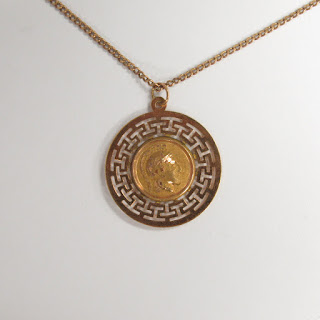 14K Gold Hoplite Medallion Chain Necklace