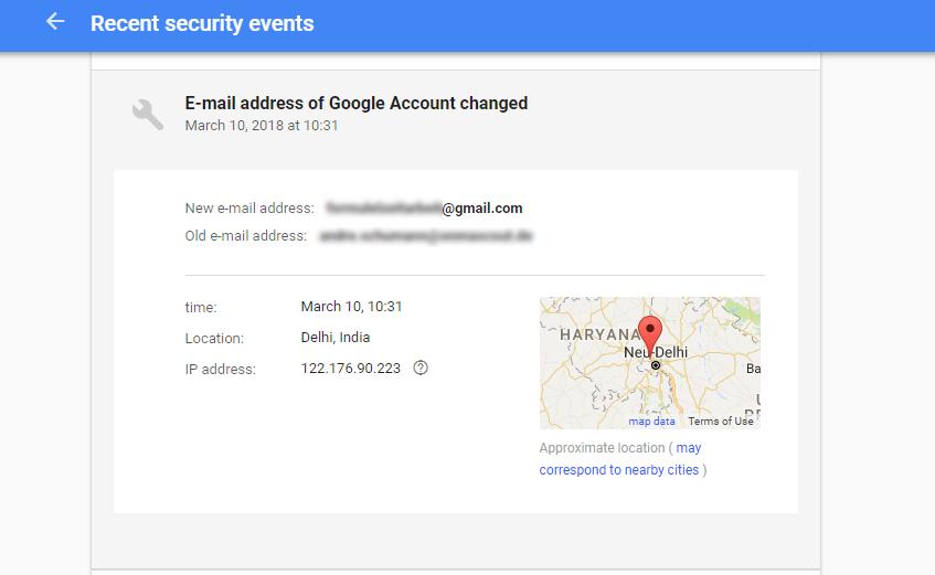 Gmail login delete