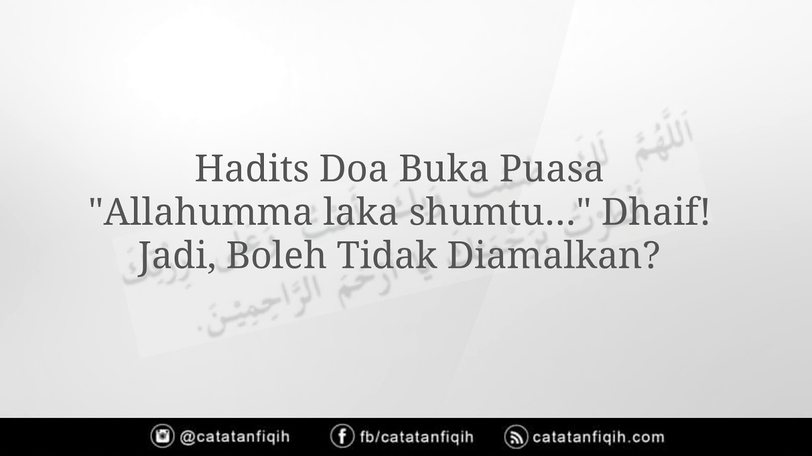 Contoh Hadits Dhaif Mursal 41