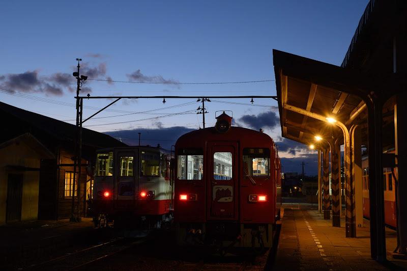 181215 若柳駅夕景上り方