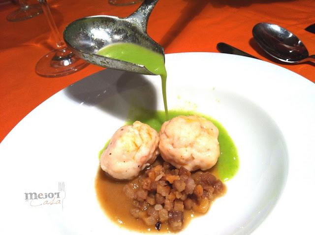sopa de guisantes con albondigas de gamba restaurante a domicilio Mejor en casa