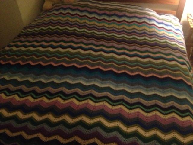 hæklet sengetæppe