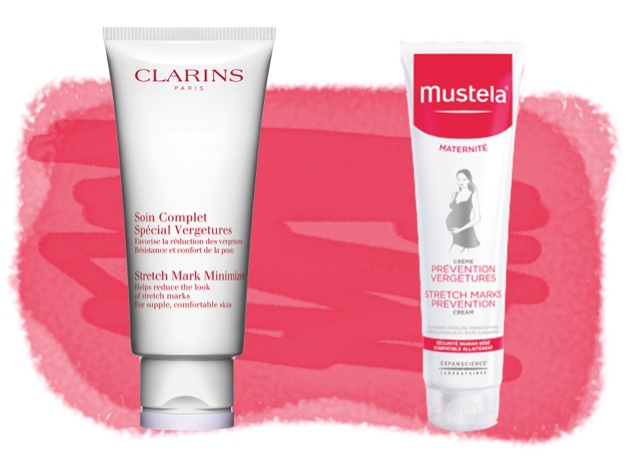 Clarins Stretch Mark Minimizer. Mustela Stretch Mark Prevention
