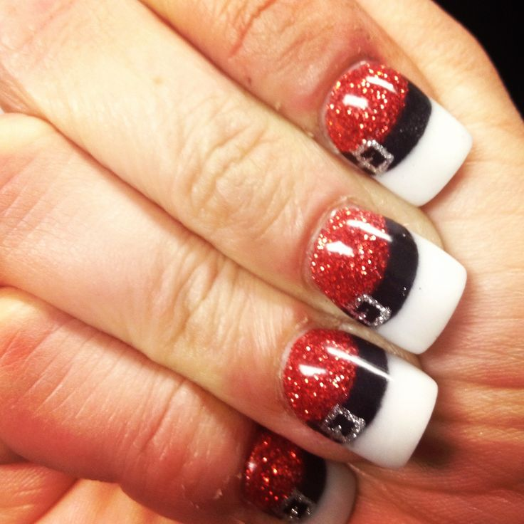 Christmas Dazzles Winter Santa Claus Nail Art Fashionte