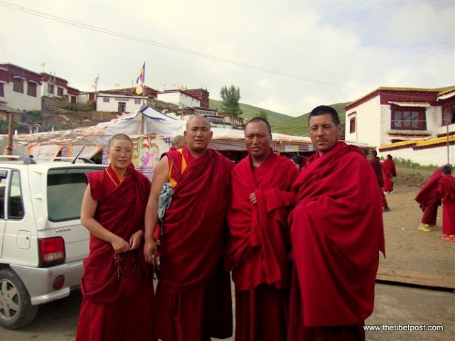 Massive religious gathering and enthronement of Dalai Lama's portrait in Lithang, Tibet. - l8.JPG