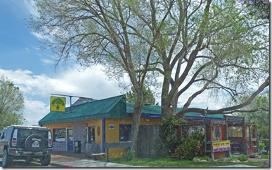 Peace Tree Juice Cafe (known for good natural foods and free range beef/chicken), Monticello Utah