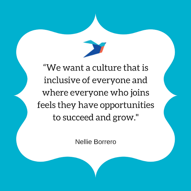 We want a culture that is inclusive of everyone and where everyone who joins feels they have opportunities to succeed and grow.