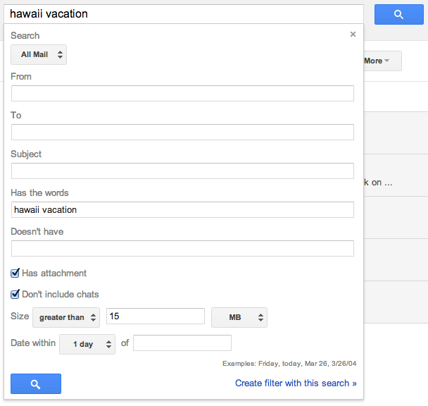 Google Mail Advanced
