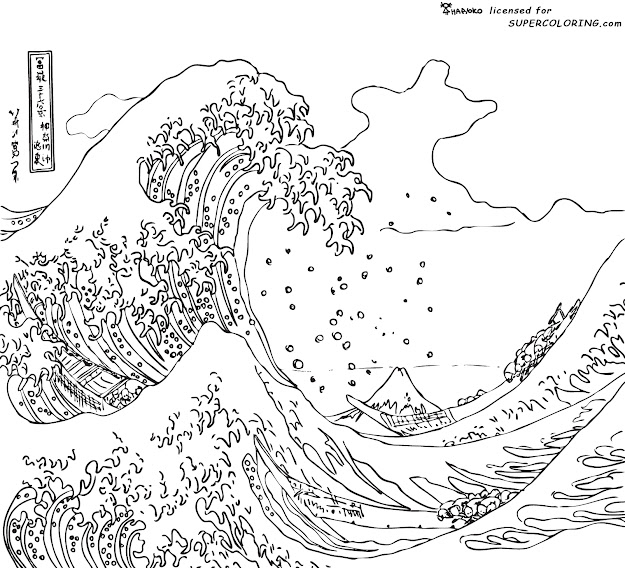 Time Art Japan Bamboo And More Ocean Coloring Pagesadult