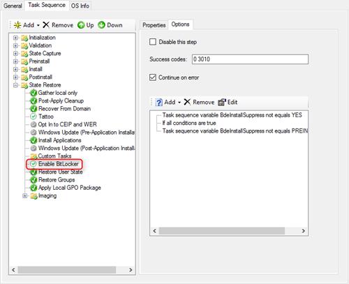 MDT 8443 : Enabling Bitlocker Pre-Provisioning Only | OS|DC