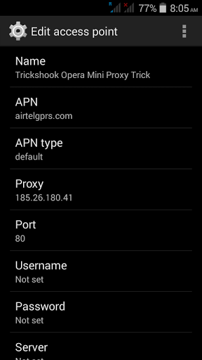 Airtel free internet opera mini proxy server