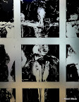 Kreuzigungsgruppe, Glas, Schwarzlot, Detail 2006