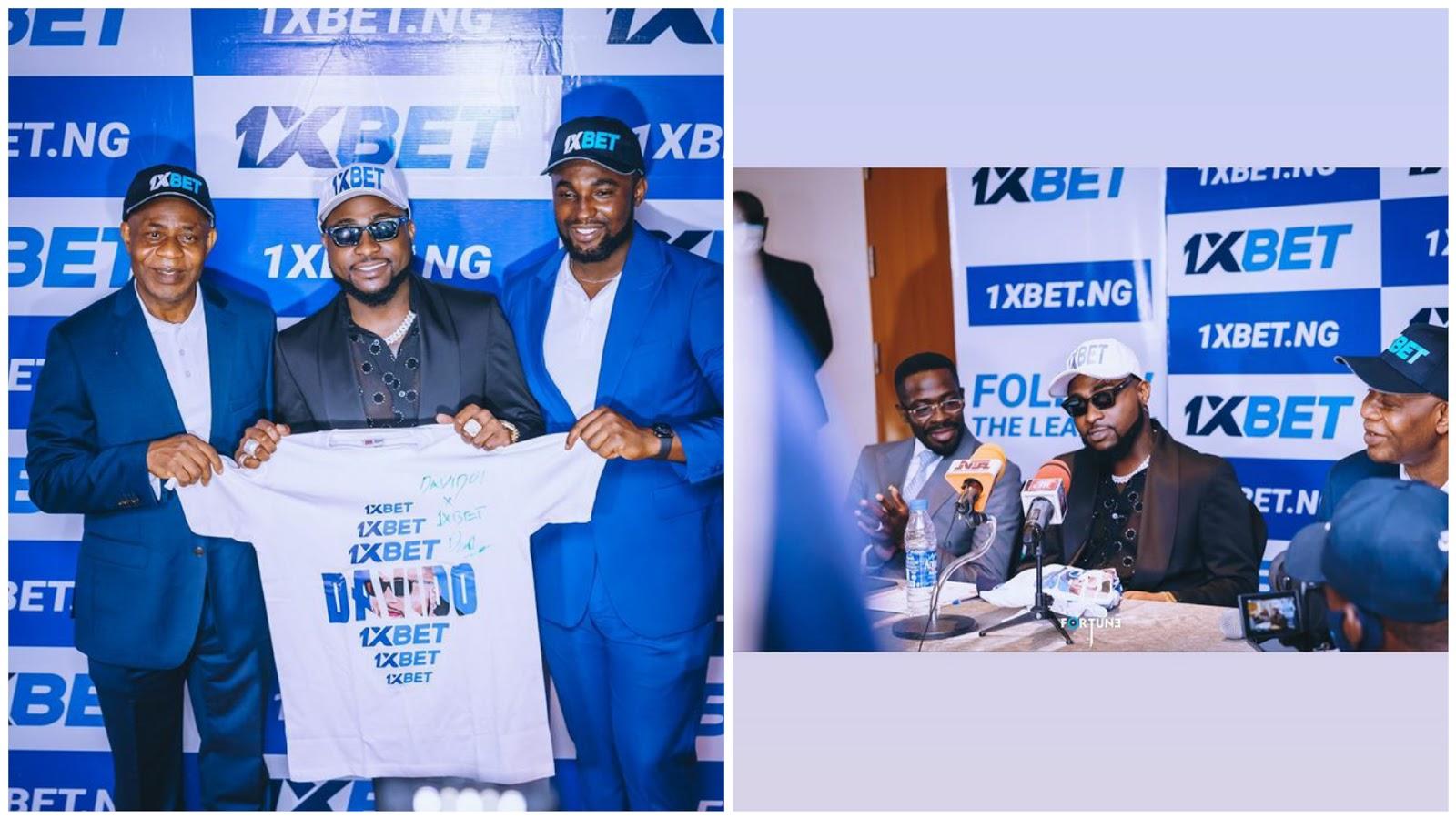 Davido Signs Multi-Million Naira Contract With 1XBET | #Davido1XBET Video