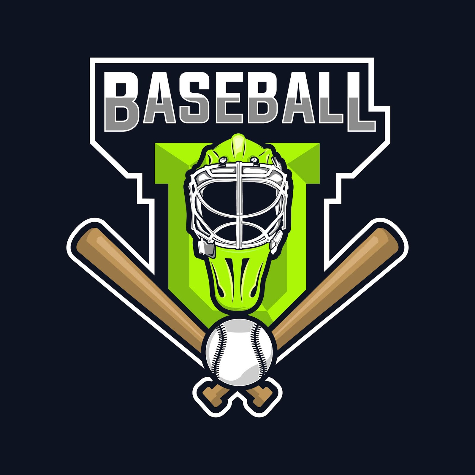 Baseball Logo Design Free Download Vector CDR, AI, EPS and PNG Formats