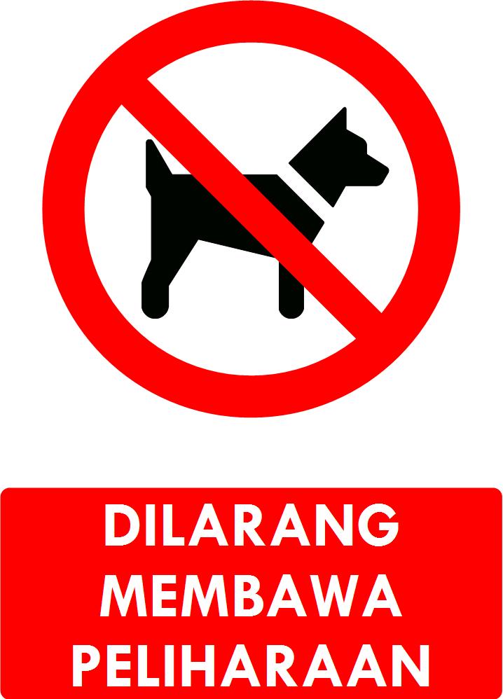 Rambu Dilarang Membawa Peliharaan