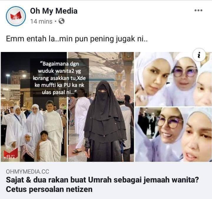 Sajat Menghina Agama Islam Di Mekah, Berubah menjadi perempuan