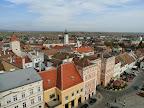 Blick vom Rathausturm Richtung tschechische Grenze