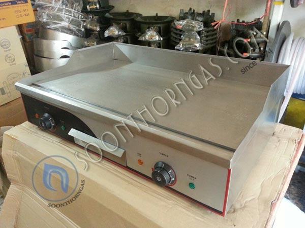 เตาสเต็กไฟฟ้า เตากริล แบบตั้งโต๊ะ 2 หัวเตา EG-820 (ถาดเรียบ)