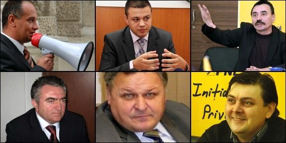 Candidaţii PNL pentru Primăria Suceava: Alexandru Băişanu, Mihai Sandu Capră, Ovidiu Doroftei, Ilie Niţă, Marius Zmău şi Brânduşel Nichitean