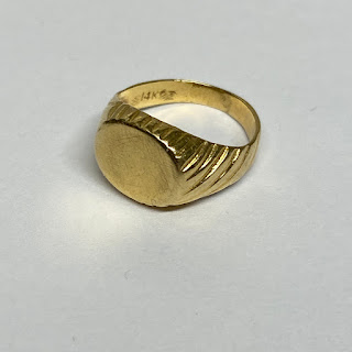 14K Yellow Gold Baby Ring
