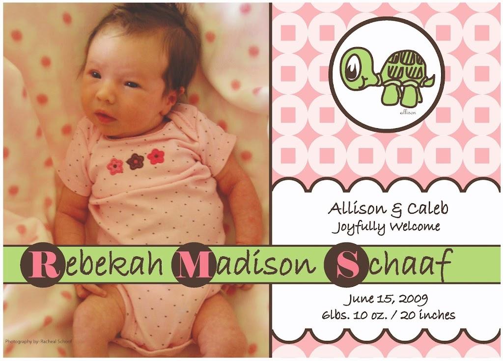 Rebekah Announcement