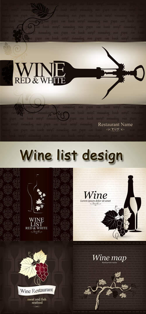 Stock: Wine list design