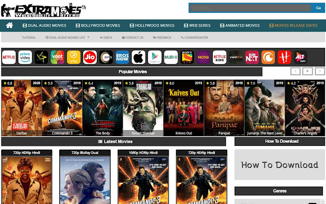 Extramovies 2021- illegal movies downloading website