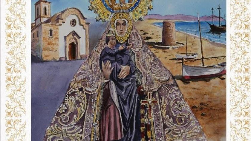 Cartel anunciador del Quinto Centenario de la Hermandad de la Virgen del Mar.
