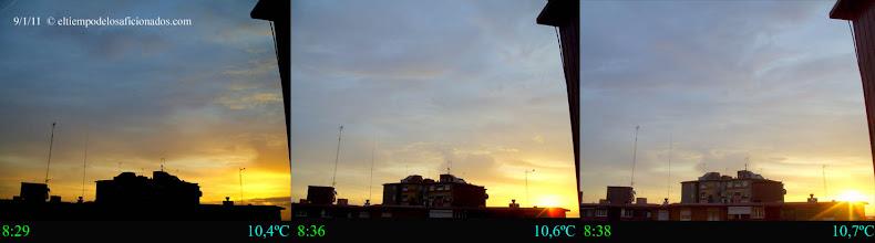 Photo: Amanecer del día 9/01/11