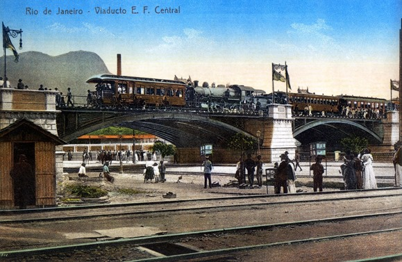 Viaduto EFCB Canal do Mangue 1907