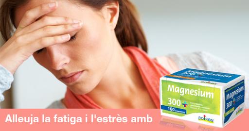 Magnesium 300+: Medicament homeopàtic amb magnesi i vitamines del grup B, per combatre l'estrès i el cansament i alleujar la fatiga.