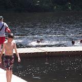 That's a cold lake!