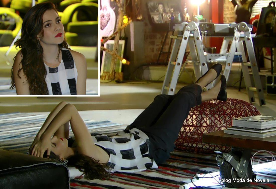 moda da novela Em Família - look da Marina dia 15 de maio