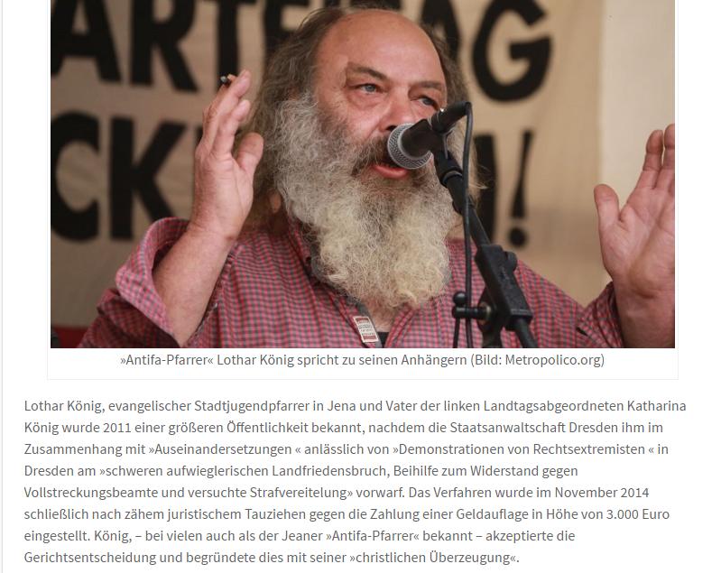 Antifa Pfarrer Lothar König