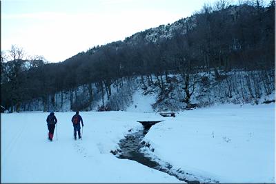 Pronto cruzamos el río Esca/Eska