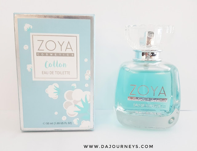 [Review] Eau De Toilette Cotton from Zoya Cosmetics