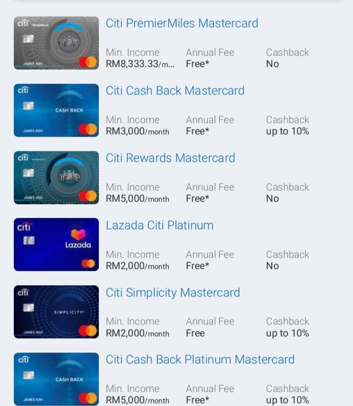 Senarai 11 Kad Kredit CitiBank Paling Popular