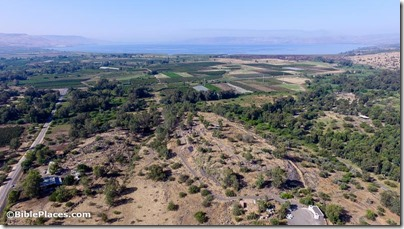 Bethsaida aerial from northeast, ws053016297