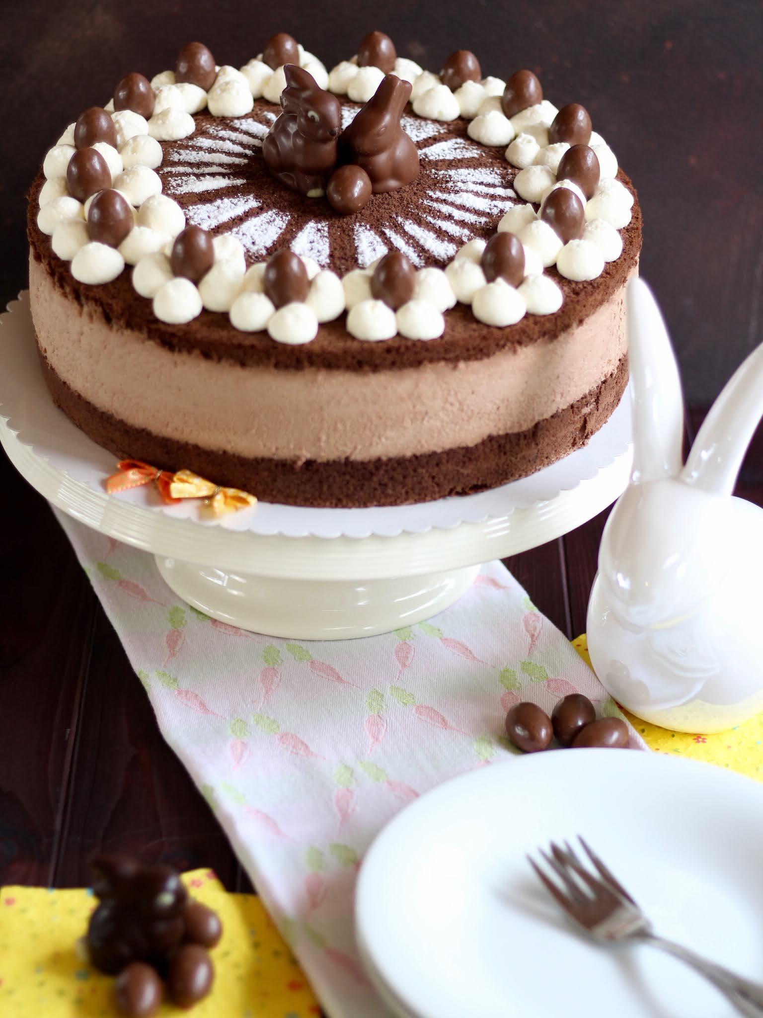 Die beste Schoko-Käse-Sahne-Torte backen! Traumhafte Ostertorte mit viel Schokolade! | Rezept und Video von Sugarprincess
