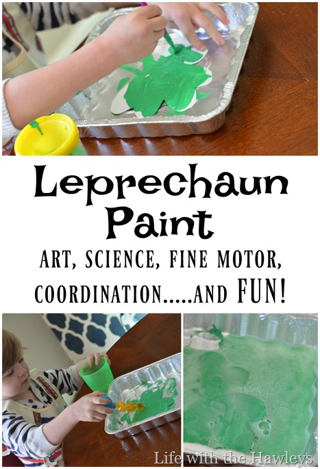 Leprechaun Paint- Life with the Hawleys