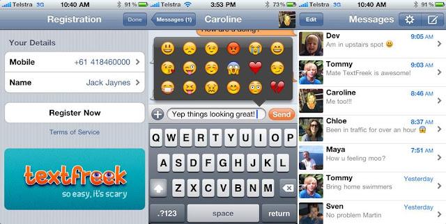Envoyer des SMS Gratuits - Application pour Iphone, Ipad, Ipod touch