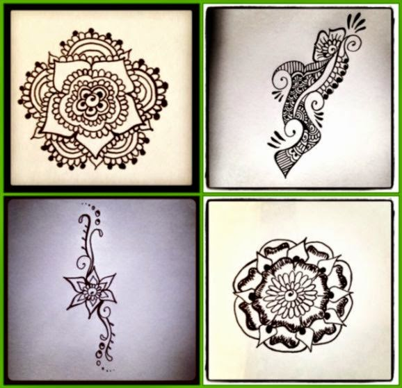 Easy 5 10 Henna Body Art Designs  Henna Blog Spot