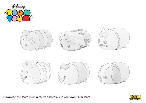 Tsum Tsum Colouring Page