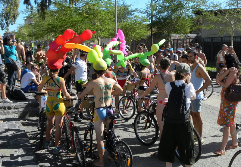 Start of annual naked bike ride (no we did not participate)