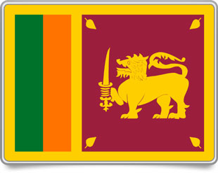 Sri Lankan framed flag icons with box shadow