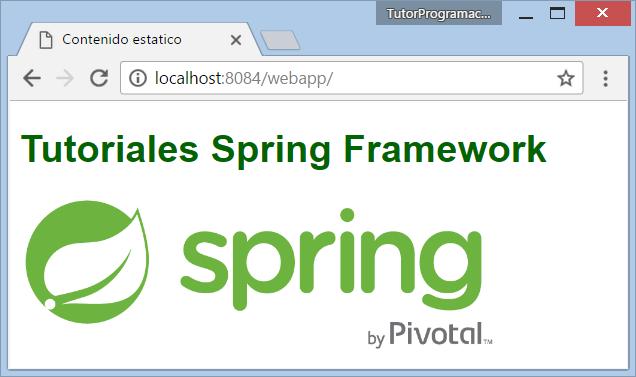 Usar imágenes y css en una vista JSP de Spring