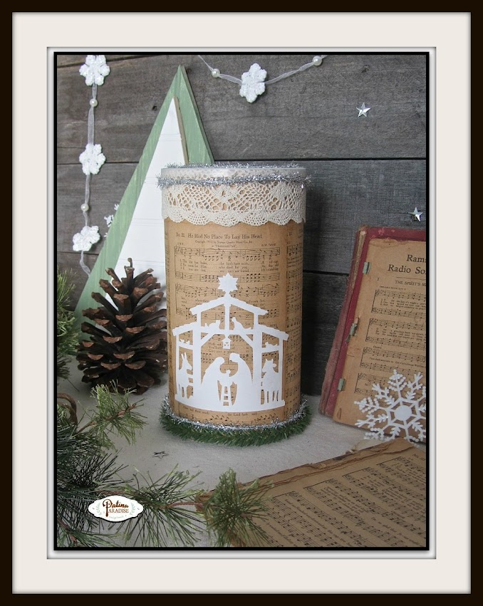 Oatmeal Container & Old Hymnal Repurpose