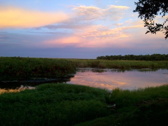 Sunset in Shakawe